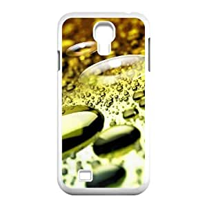 Diy Water droplets Phone Case for samsung galaxy s4 White Shell Phone JFLIFE(TM) [Pattern-2]