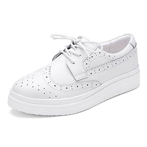 weiblich Frühling Weiß größe Farbe Plate Sportschuhe Damenschuhe Flut flache Damenschuhe einzelne Schuhe British 38 beiläufige Style HWF 4Cx7SAwq5n