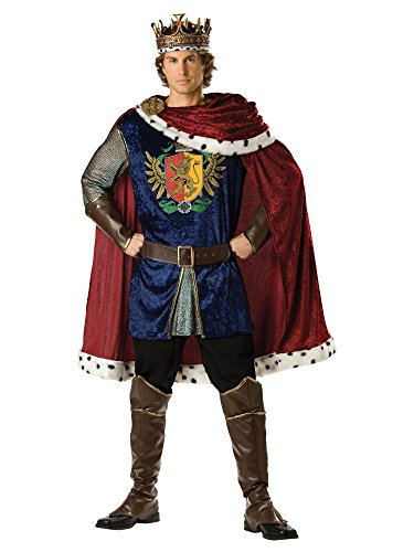InCharacter Costumes Men's Noble King Costume, Burgundy/Blue, X-Large
