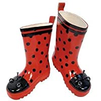 Kidorable Rain Boots for Kids & Toddlers (Size 5T - 2K) - 8T - LADY BUG