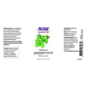 NOW Foods Essential Oils Peppermint 4 fl oz