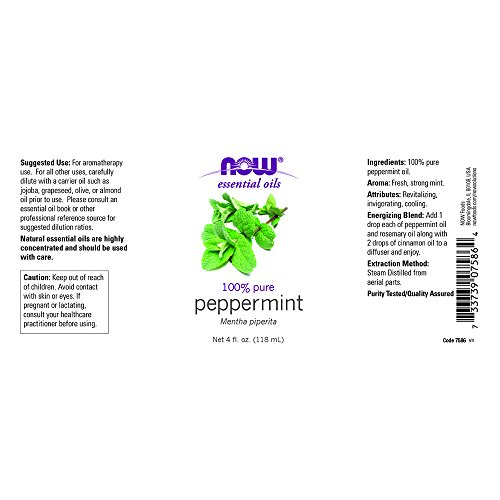 NOW Foods Essential Oils Peppermint 4 fl oz
