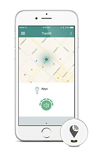 TrackR pixel - Bluetooth Tracking Device. Item Tracker. Phone Finder. iOS/Android Compatible - White