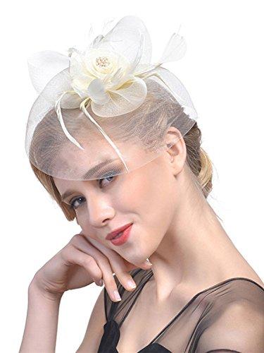 Penny Mesh Hat Fascinator Tea Party Headwear Kentucky Derby Wedding  Cocktail Flower Mesh Feathers Hair Clip 4af475c19220