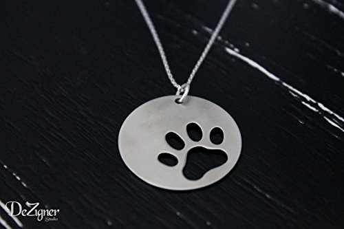 Cat Paw, Cat Lover Gift, Cat Necklace, Paw Necklace, Cat Lover Necklace, Cat Silhouette Charm, Cat Paw Necklace, Animal Lover Gift
