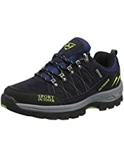 Scarpe da Trekking Uomo Donna Arrampicata Sportive All'aperto Escursionismo Sneakers Army Green Blu Nero Grigio 36-47 Nero 44