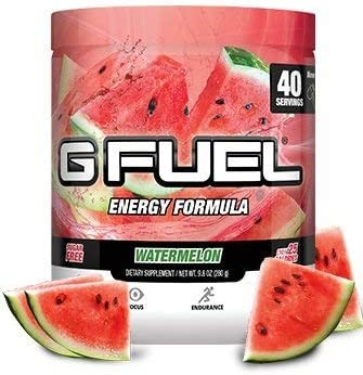 G Fuel Watermelon Tub 40 Servings Elite Energy and Endurance Formula