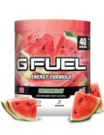 G Fuel Watermelon Tub (40 Servings) Elite Energy and Endurance Formula (G Fuel Flavors)