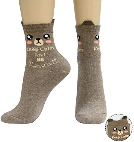 SocksMore Women Cute Lovely Animals Crew Socks for Girls Crazy Funny Novelty Gift