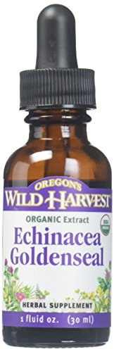 Oregon's Wild Harvest Fresh Organic Echinacea Goldenseal Supplement, 1 Fluid (1 Oz Oregons Wild Harvest)