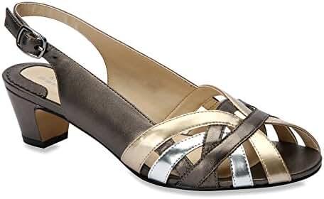 Ros Hommerson Women's Pam Peep-Toe Slingback Sandals