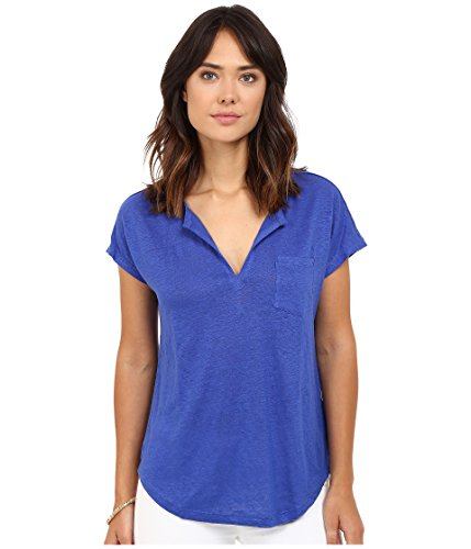 Lilly Pulitzer Women's Duval Top Bomber Blue T-Shirt SM