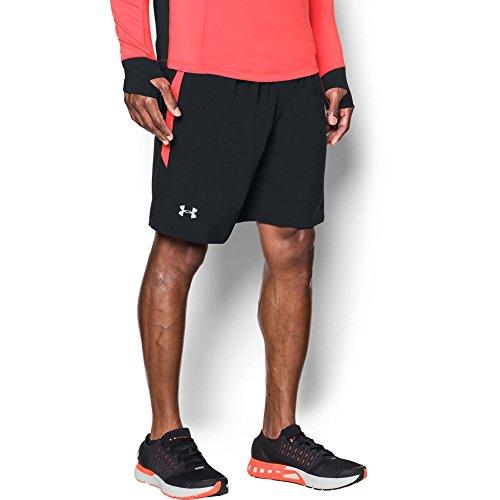 Under Armour Men's Launch 9'' Shorts, Black/Marathon Red, - Inch 9 Running Shorts