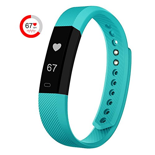 007plus Fitness Tracker HR, ID115 HR Activity Tracker with Step Counter and Calorie Counter Watch Pedometer, Slim Heart Rate Monitor Watch for Kids Women Men