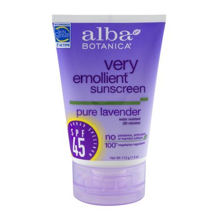 Alba Botanica Scented Sunscreen - Alba Botanica Soothing Sunscreen, Pure Lavender SPF 45, 4oz