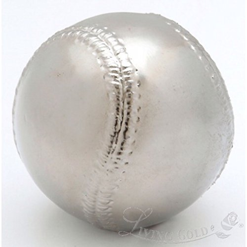 Roxx Fine Jewelry™ PLATINUM BASEBALL Real Baseball dipped in Platinum includes clear display case by Roxx Fine Jewelry (Image #4)