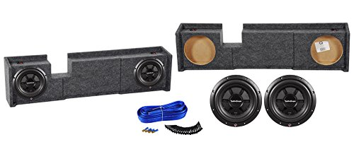 "Dual 10"" Rockford Fosgate Subwoofers+Sub Box Enclosure for 00-03 Ford F150 Xcab"
