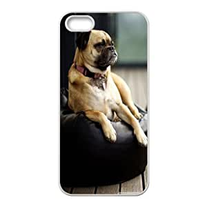 IPhone 5,5S Case Smart Dog for Girls, Iphone 5s Cases for Girls Protective Pharrel, {White}
