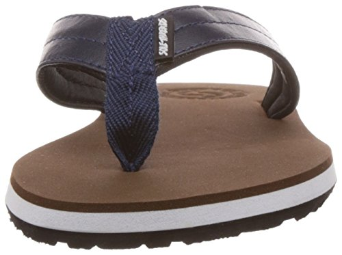 Sole Threads Mens Swoosh Brown and Navy Flip Flops Thong Sandals iRmw0x