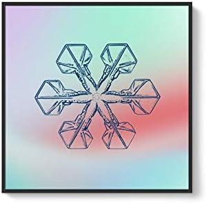 Framed for Living Room Bedroom Snowflake Theme for