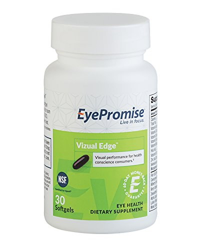 EyePromise Vizual Edge | Science Based Eye Vitamin Supplement with Zeaxanthin and Lutein | Guaranteed to Improve Vision by EyePromise