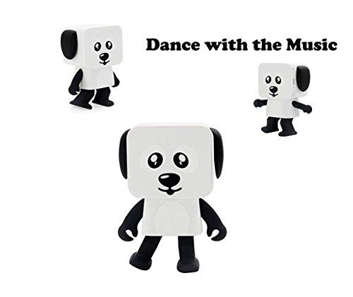 Dancing Bluetooth Speaker Robot Wireless Lovely Little Robot Audio Portable Speaker Gift for kids Toy Birthday Children's Creative Toys - Digital Cobra