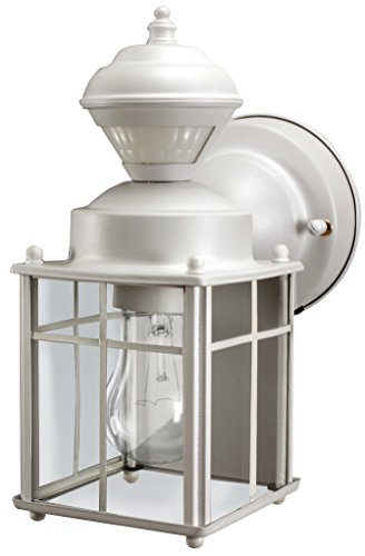 Heathco HZ-4132-MW White Bayside Mission Style Motion Activated Lantern by Heath Zenith