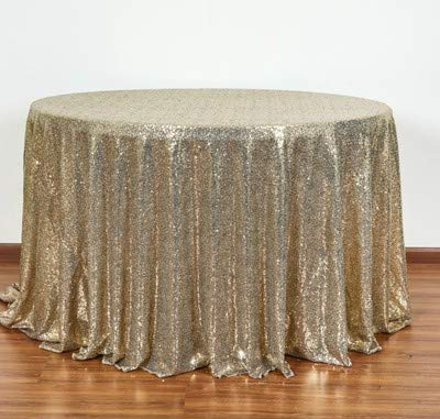 Champagne color Diameter 300cm round REDWPQ Dessert Table Tablecloth Free To Wash Antiironing Sequins golden Tablecloth Birthday Party Checkin Table Tablecloth 290230CM Navy color