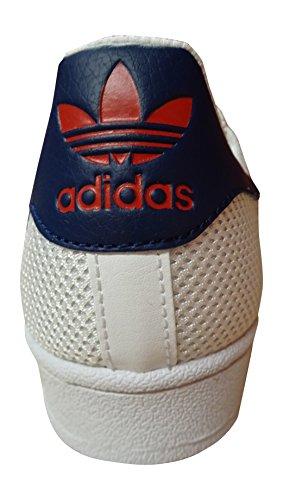 Bleu Bb5393 Les Adidas Superstar Sport De Rouge Hommes Blanc Chaussures PPB40T