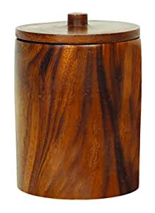 Unleashed Life Renewable Acacia Wood Classic Anderson Treat Canister
