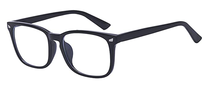 c37e454bb1dd Kelens Blue Light Blocking Glasses Square Nerd Eyeglasses Frame Anti Blue  Ray Computer Game Glasses
