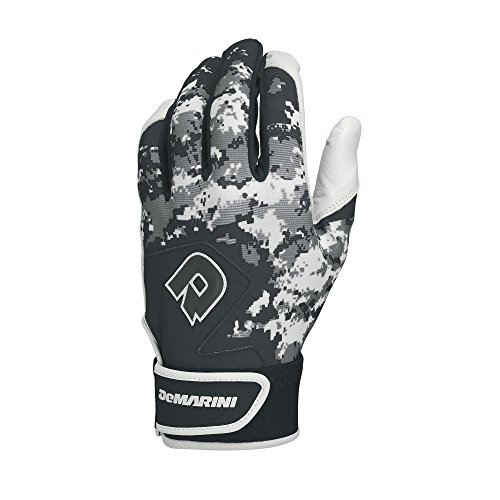 (DeMarini Digi Camo II Adult Batting Glove-Black Large)