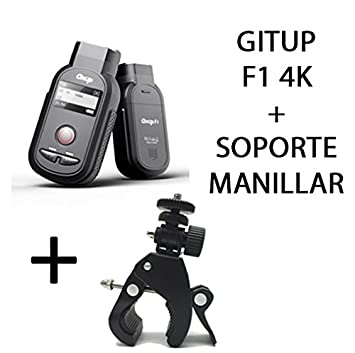GITUP F1 4K nativa Camara deportiva + SOPORTE MANILLAR, WIFI, sony IMX317 8Mpx,