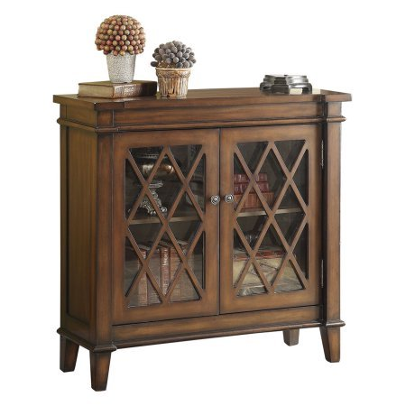 2 Door Accent Bookshelf Cabinet  Made From Wood  Glass Doors  Save Space  Tv Stand  Storage Solution  Great For Living Room  Family Room  Home Furniture  Brown Color