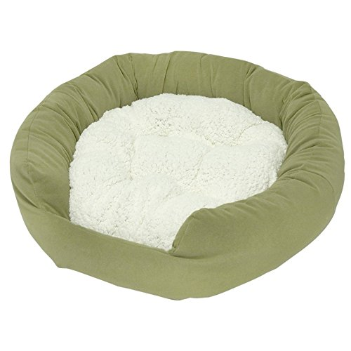 Happy Hounds Murphy Donut Medium 32-Inch Dog Bed, Moss