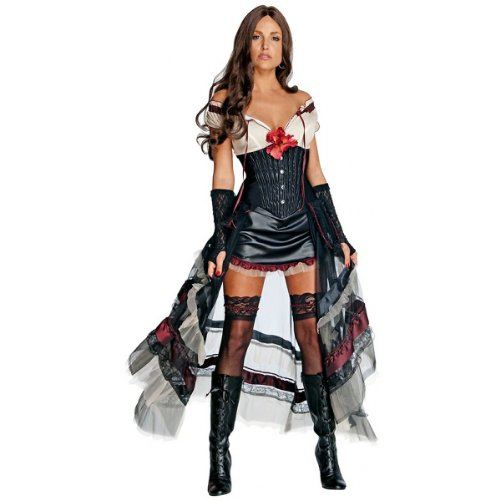 Lilah Jonah Hex Costume (Lilah Costume - Large - Dress Size 12-14)