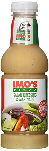 Imo's Pizza Sweet Italian Dressing and Marinade (20 Ounce Bottle), Authentic Imo's St. Louis Style Salad Dressing