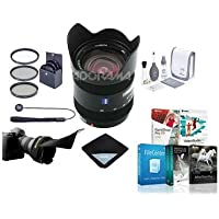 Sony 16-80mm f/3.5-4.5 Vario-Sonnar T DT Carl Zeiss Alpha A DSLR Mount Lens - Bundle with 62mm Filter Kit, Lens Wrap (15x15), Flex Lens Shade, Capleash, Cleaning Kit, Software Package