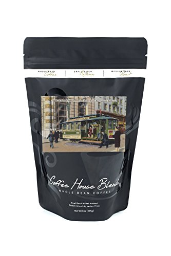 San Francisco, California - Cable Car Turnaround on Powell and Market - Vintage Halftone (8oz Whole Bean Small Batch Artisan Coffee - Bold & Strong Medium Dark Roast w/ - Powell Market San Francisco Street And