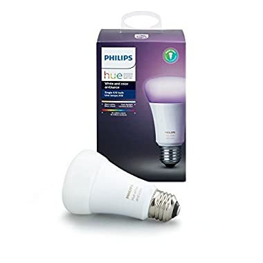 Philips Hue White and Color Ambiance A19 60W Equivalent Dimmable LED Smart Light Bulb, 1 Smart Bulb, Works with Alexa, Apple HomeKit, and Google Assistant (All US Residents)