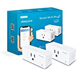 Amysen Wifi Smart Plug(2-Pack), Smart Outlet Mini Socket No Hub Required, Control Your Devices from Anywhere Compatible with Alexa and Google Assistant