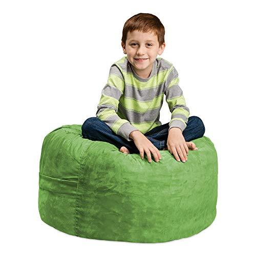 Chill Sack Bean Bag Chair: Large 2' Memory Foam Furniture Bean Bag - Big Sofa with Soft Micro Fiber Cover - Lime (Fabric Sofas Funky)
