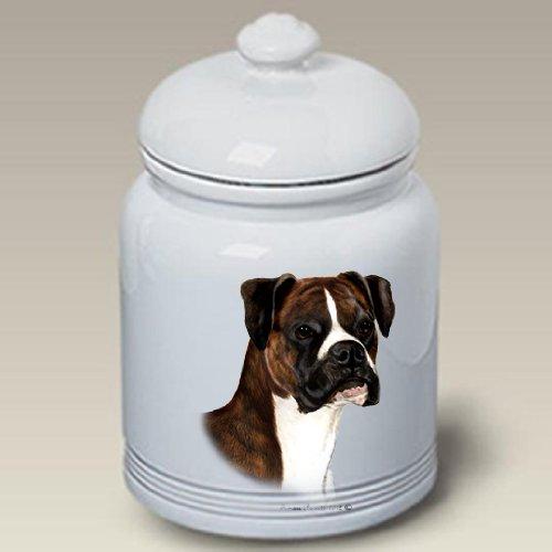 (Boxer Brindle Uncropped - Tamara Burnett Treat Jars)