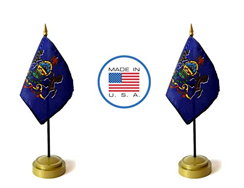 - Made in The USA Flag Set. 2 Pennsylvania Rayon 4