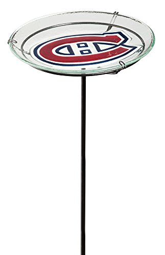 NHL Staked Bird Bath NHL Team: Montreal Canadiens by Team Sports America
