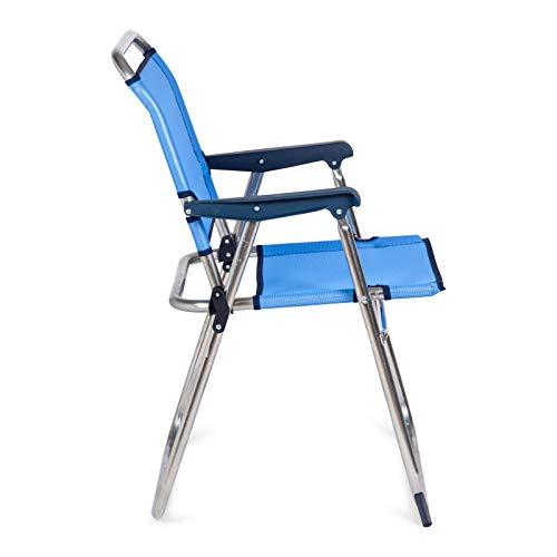 Solenny Silla Plegable, azul, 58x54x10 cm, 50001072720088