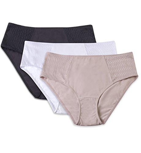 Carole Martin Women's Hipster Panties, Ultra Soft Microfiber Comfort Briefs Underwear 3 Pack - Large