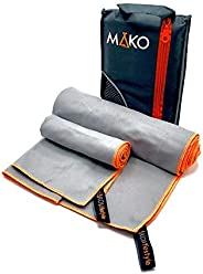 MAKO 2Pack Lrg Microfiber Compact Soft Travel Towel