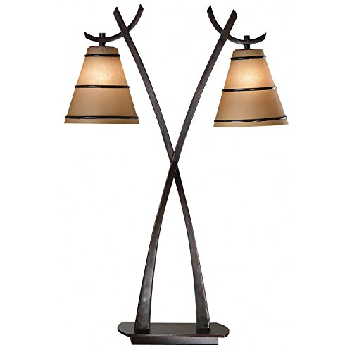 Kenroy Home 03334 Wright Table Lamp, 30.5 Inch Height, 20 Inch Width, 9.5 Inch Ext, Oil Rubbed Bronze