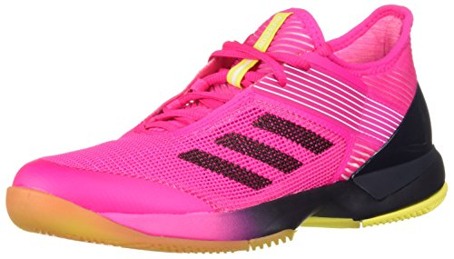 (adidas Women's Adizero Ubersonic 3 Tennis Shoe, Shock Pink/Legend Ink/White, 9 M)